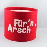 Klopapier-Manchette ★ Für'n Arsch ★ red