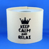 Klopapier-Manchette ★ Keep Calm and Relax ★ wollweiss