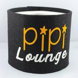 Klopapier-Manchette ★ Pipi Lounge ★ black