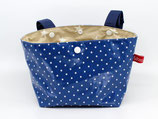 Lenkertasche Lotti-Trotti ★ Blue little Dots ★ beige