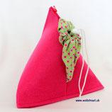 """Kartoffelsack """"Monte Patata"""" ★ pink ★ Lemongrün mit Kreisen in weiss/pink"""