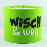 Klopapier-Manchette ★ Wisch & Weg ★ lemon