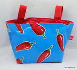 Lenkertasche Lotti-Trotti ★ blue hot red chili pepper ★