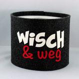 Klopapier-Manchette ★ Wisch & Weg ★ anthrazit