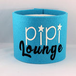 Klopapier-Manchette ★ Pipi Lounge ★ türkis