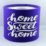 Klopapier-Manchette ★ Home Sweet Home ★ violett