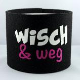 Klopapier-Manchette ★ Wisch & Weg ★ black