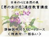 日本の心と自然の美【男の生け花】生け花 通信教育講座 詳細説明&動画付き    <特典付・一括払い>