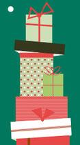 4 Geschenkanhänger Viele Geschenke!!! Grün
