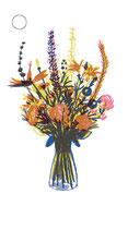 4 Geschenkanhänger Blumen für Dich
