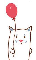 Anhänger Katze mit Luftballon