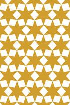 4 Anhänger Sterne gelb