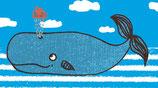4 Geschenkanhänger Walfisch