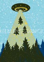 4 Geschenkanhänger  Außerirdische Weihnachten