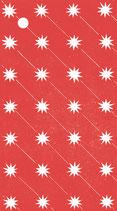 4 Geschenkanhänger Sterne Rot-Weiß
