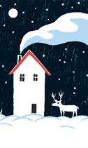 4 Geschenkanhänger Winternacht