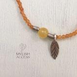 オレンジアベンチュリンのリーフブレス#446