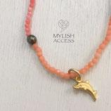 珊瑚の華奢なドルフィンブレス#458