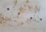Gemälde Weiß/gold