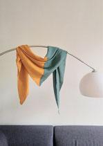 Tuch Dreieck smaragd-senf