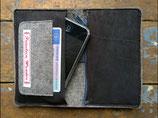 Smartphone-Geldbörse aus Leder und Filz