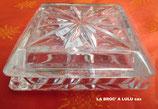 Bonbonnière ou Boite à Bijoux en Cristal