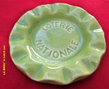 Cendrier publicitaire vintage en céramique « Loterie Nationale »