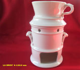 Tisanière ancienne porcelaine blanche