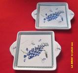 Plats carrés à anses Porcelaine « Le Terrine Botaniche » Tognana