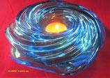 """Bougeoir """"Tourbillon"""" en verre bleu de Murano pour Nestlé"""