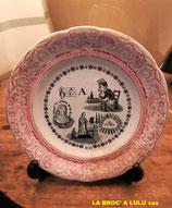 Assiette Parlante à Rébus en porcelaine de Gien