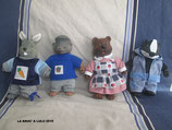 4 PELUCHES FIGURINES COPAINS DES FORETS