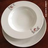 ASSIETTES en porcelaine fine décorée repas enfant