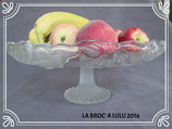 COUPE à Fruits en verre - pied central en verre