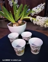 Set  de 4 Gobelets Café porcelaine by Easy Life