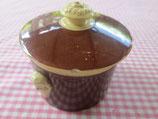 Pot couvert à foie gras ancien Sarreguemines « Utzschneider & Cie »