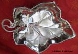 Vide-poche feuille en métal argenté de Mayell