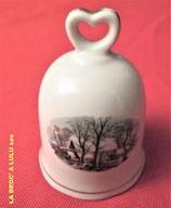Clochette de table en porcelaine décorée