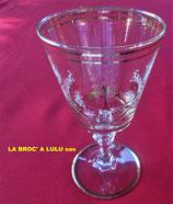 Verre de communion ancien en cristal