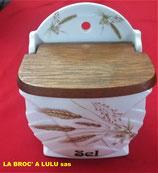 Boite à sel « Art Déco » porcelaine « Mehun »