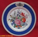 Assiette Tricentenaire  « Bouquet Grand Siècle » du Trianon