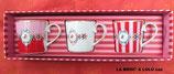 COFFRET de tasses médaillon « Love Bird » porcelaine