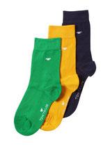 Tom Tailor Socken 3er Pack grün, gelb, dunkelblau