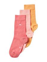 Tom Tailor Socken 3er Pack rosa,orange,hellrot