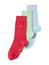 Tom Tailor Socken 3er Pack hellblau, hellgrün, rot