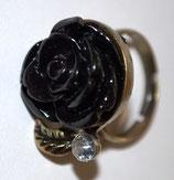 Ring Vintage - Die schwarze Rose