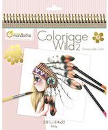 "Malbuch ""Coloriage Wild 2"" von Avenue Mandarine"