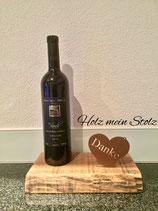 Danke mit feinem Wein