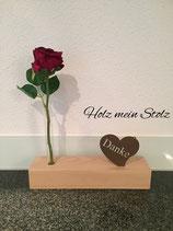 Danke mit Rose
