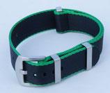 seat belt  schwarz aussen dünn grün 20 mm 7982